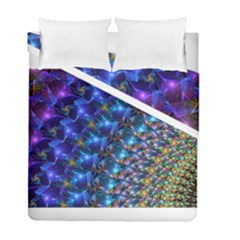 Blue Sunrise Fractal Duvet Cover (twin Size) by KirstenStar