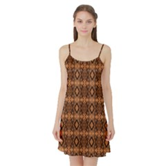 Faux Animal Print Pattern Satin Night Slip