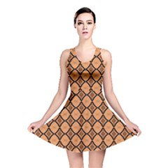 Faux Animal Print Pattern Reversible Skater Dresses by creativemom