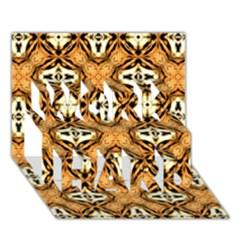 Faux Animal Print Pattern Work Hard 3d Greeting Card (7x5)