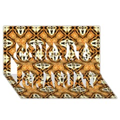 Faux Animal Print Pattern Congrats Graduate 3d Greeting Card (8x4)  by creativemom