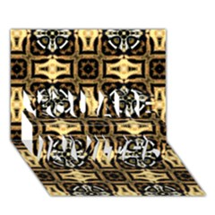 Faux Animal Print Pattern You Are Invited 3d Greeting Card (7x5)  by creativemom