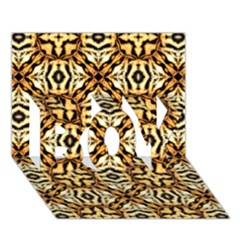 Faux Animal Print Pattern Boy 3d Greeting Card (7x5) by creativemom