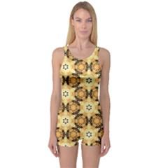 Faux Animal Print Pattern Women s Boyleg One Piece Swimsuits
