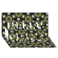 Faux Animal Print Pattern Merry Xmas 3d Greeting Card (8x4)