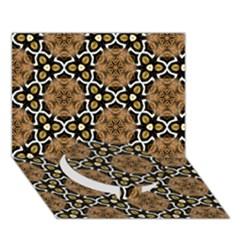 Faux Animal Print Pattern Circle Bottom 3d Greeting Card (7x5)