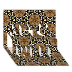 Faux Animal Print Pattern Get Well 3d Greeting Card (7x5)  by creativemom
