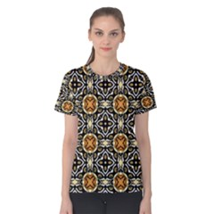 Faux Animal Print Pattern Women s Cotton Tees by creativemom