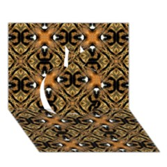 Faux Animal Print Pattern Apple 3d Greeting Card (7x5)
