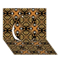 Faux Animal Print Pattern Circle 3d Greeting Card (7x5)