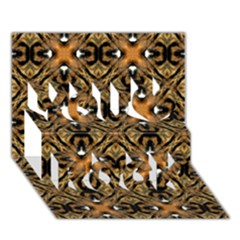 Faux Animal Print Pattern You Rock 3d Greeting Card (7x5)  by creativemom