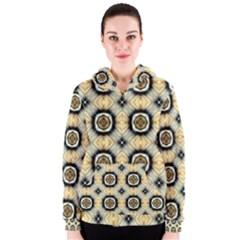 Faux Animal Print Pattern Women s Zipper Hoodies