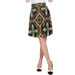Faux Animal Print Pattern A-Line Skirts by creativemom