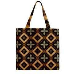 Faux Animal Print Pattern Zipper Grocery Tote Bags