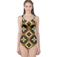 Faux Animal Print Pattern Women s One Piece Swimsuits