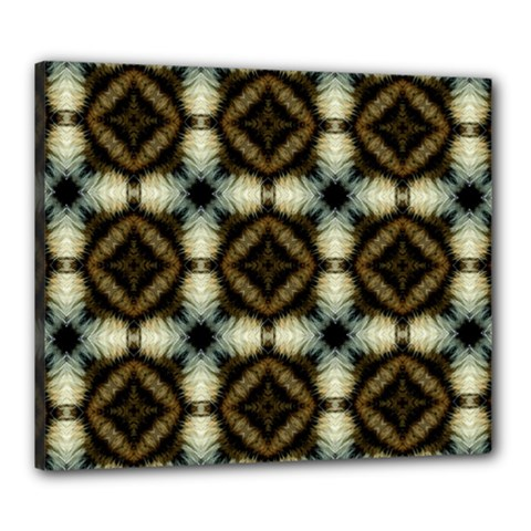 Faux Animal Print Pattern Canvas 24  X 20  by creativemom
