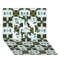 Faux Animal Print Pattern Peace Sign 3d Greeting Card (7x5)  by creativemom