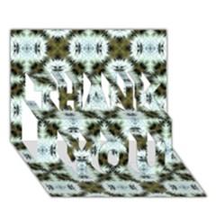 Faux Animal Print Pattern Thank You 3d Greeting Card (7x5)