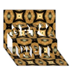 Faux Animal Print Pattern Get Well 3d Greeting Card (7x5)