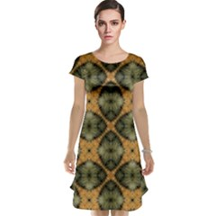 Faux Animal Print Pattern Cap Sleeve Nightdresses by creativemom