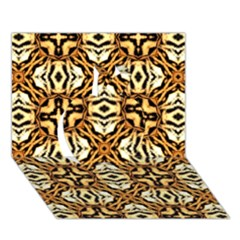 Faux Animal Print Pattern Apple 3d Greeting Card (7x5)  by creativemom