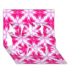 Cute Pretty Elegant Pattern Take Care 3d Greeting Card (7x5)  by creativemom