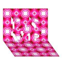 Cute Pretty Elegant Pattern Love 3d Greeting Card (7x5)  by creativemom