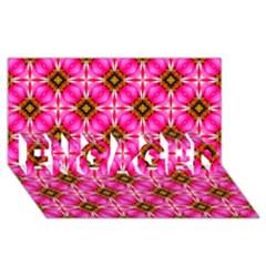 Cute Pretty Elegant Pattern Engaged 3d Greeting Card (8x4)