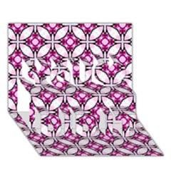 Cute Pretty Elegant Pattern You Did It 3d Greeting Card (7x5) by creativemom