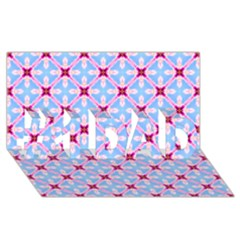 Cute Pretty Elegant Pattern #1 Dad 3d Greeting Card (8x4)  by creativemom