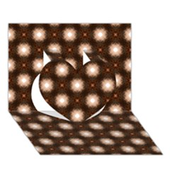 Cute Pretty Elegant Pattern Heart 3d Greeting Card (7x5)  by creativemom