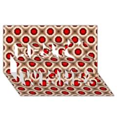 Cute Pretty Elegant Pattern Best Wish 3d Greeting Card (8x4)  by creativemom