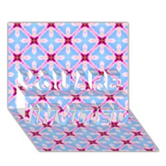 Cute Pretty Elegant Pattern You Are Invited 3d Greeting Card (7x5)  by creativemom