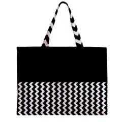 Black And White Chevron Mini Tote Bag