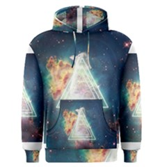 Nebula Cat Triangle Men s Pullover Hoodies by mindful