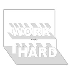 Comic Book Pow! Work Hard 3d Greeting Card (7x5)  by ComicBookPOP