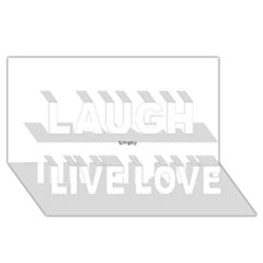 Comic Book Splat! Laugh Live Love 3d Greeting Card (8x4)  by ComicBookPOP