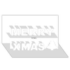 Comic Book Ka Pow! Merry Xmas 3d Greeting Card (8x4)  by ComicBookPOP