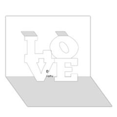 Comic Book Pop Art Love 3d Greeting Card (7x5)  by ComicBookPOP
