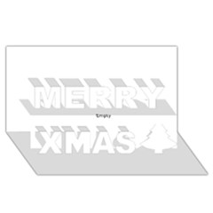 Comic Book Wham! Merry Xmas 3d Greeting Card (8x4)  by ComicBookPOP