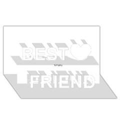 Comic Book Zap! Best Friends 3d Greeting Card (8x4)  by ComicBookPOP