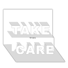 Comic Book Omg! Take Care 3d Greeting Card (7x5)  by ComicBookPOP