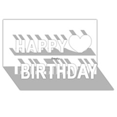 Comic Book Love! Happy Birthday 3d Greeting Card (8x4)  by ComicBookPOP