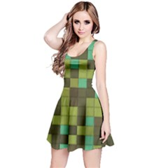 Green Tiles Pattern Sleeveless Dress by LalyLauraFLM