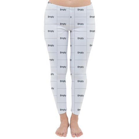 Classic Winter Leggings Front