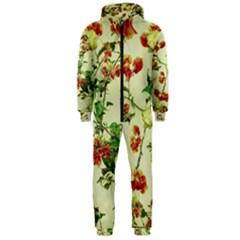 Vintage Style Floral Print Hooded Jumpsuit (Men)  by dflcprintsclothing