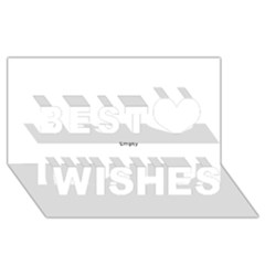 Skull Best Wish 3d Greeting Card (8x4)  by icarusismartdesigns