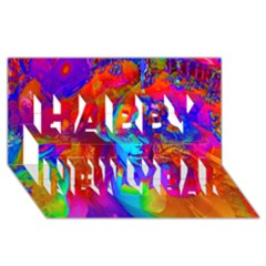 Brainstorm Happy New Year 3d Greeting Card (8x4)  by icarusismartdesigns