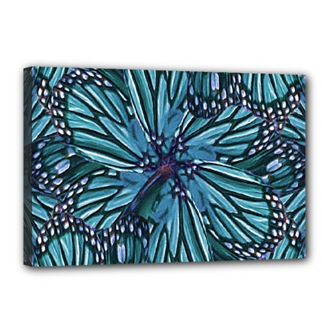 Modern Floral Collage Pattern Canvas 18  X 12  by dflcprints