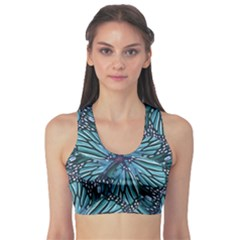 Modern Floral Collage Pattern Sports Bra